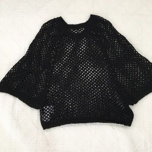 BCBG Dolman Loose Weave Sweater